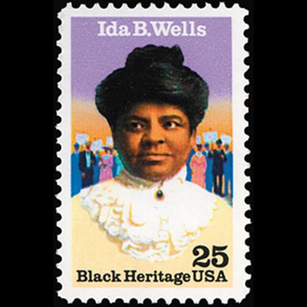 1990 25c Ida B. Wells Mint Single