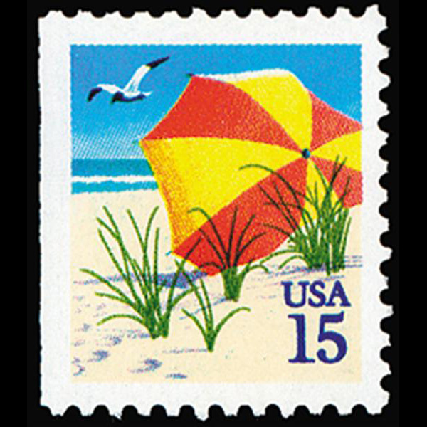 1990 15c Umbrella Bklt Single