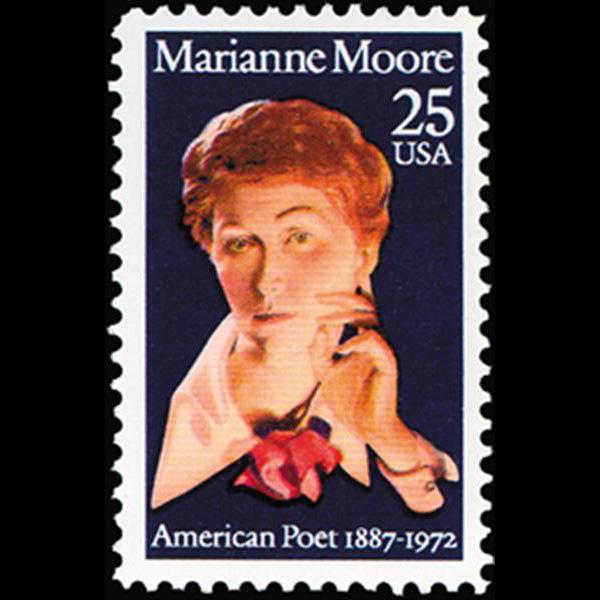 1990 25c Marianne Craig Moore Mint Single