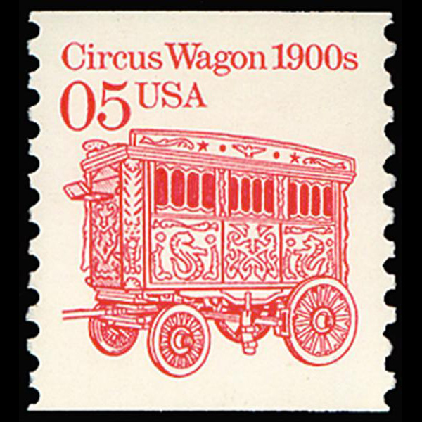 1990 5c Circus Wagon Mint Single