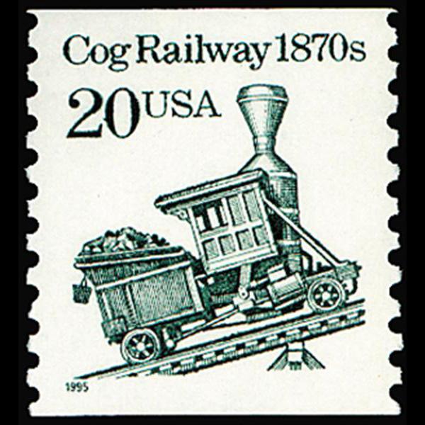 1990 20c Cog Railway Car Coil Mint Single