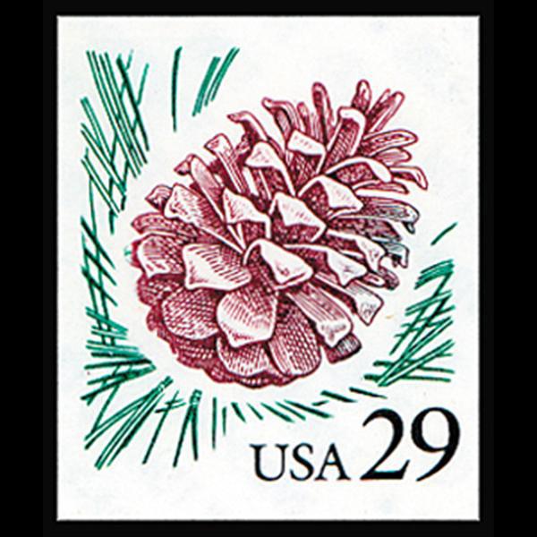 1990 29c Pine Cone Self Adhesive Mint Single