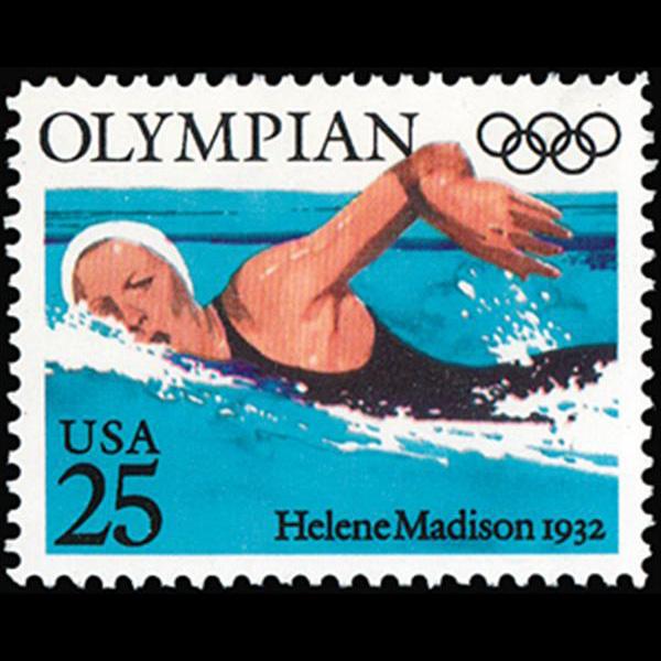 1990 25c Helene Madison Mint Single