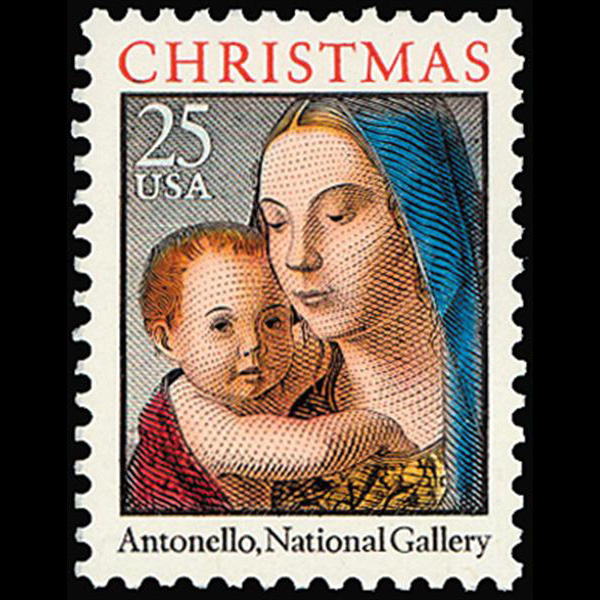 1990 25c Madonna & Child Antonello Mint Single
