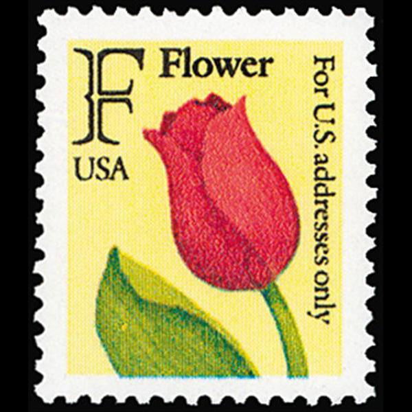 1991 29c F Flower Mint Single