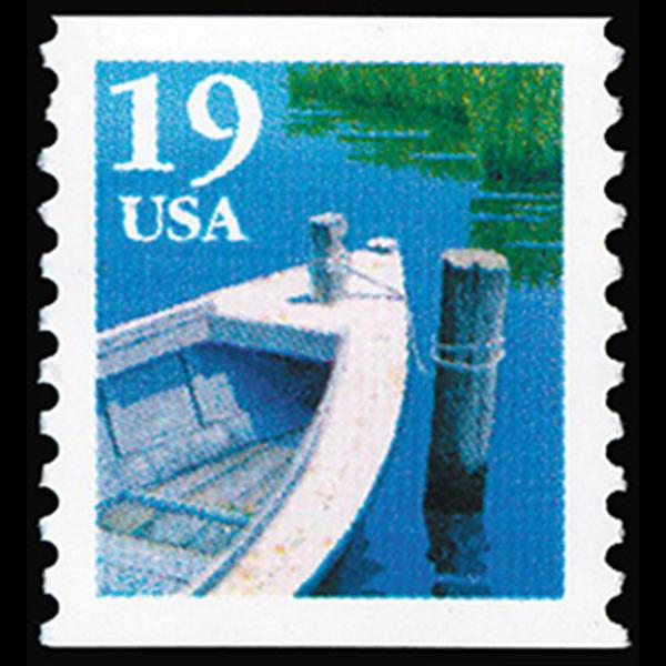 1991 19c Fishing Boat Type 1 Mint Single