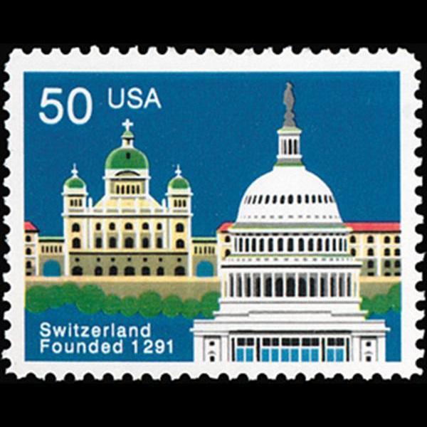 1991 50c Switzerland Mint Single
