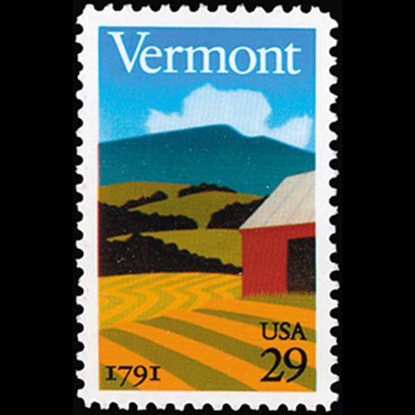 1991 29c Vermont Statehood Mint Single
