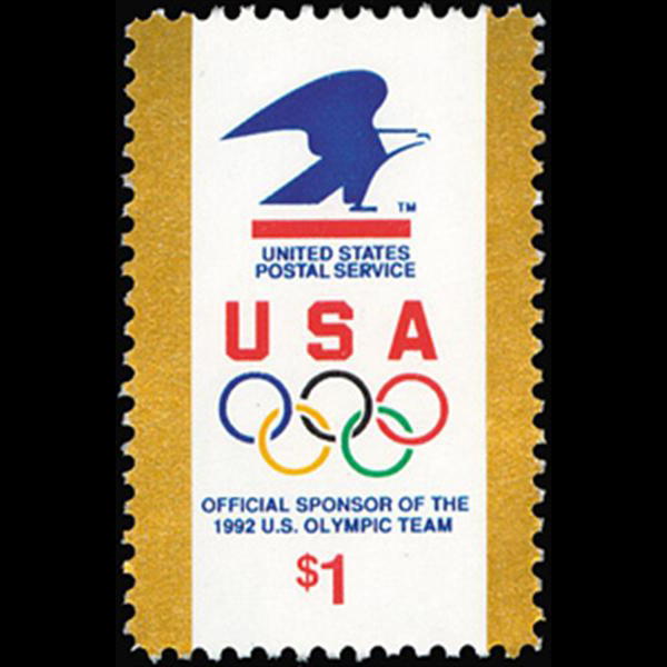 1991 $1 USPS Olympic Rings Mint Single