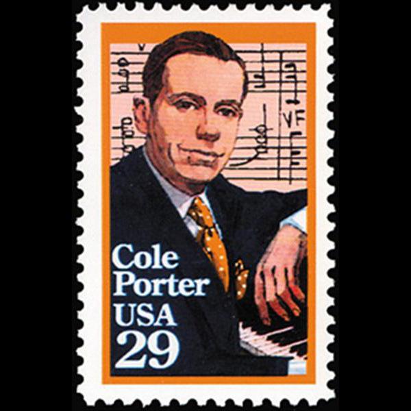 1991 29c Cole Porter Mint Single