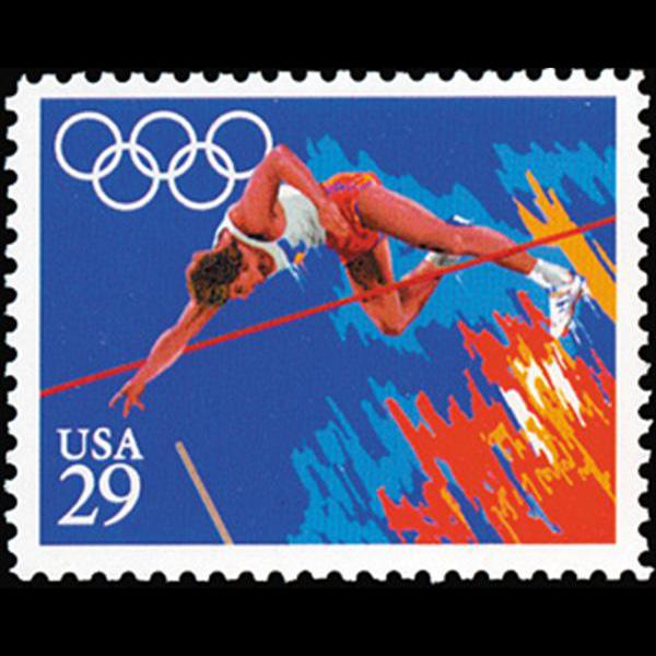 1991 29c Pole Vault Mint Single