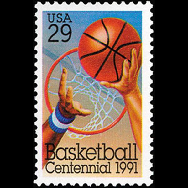 1991 29c Basketball Mint Single