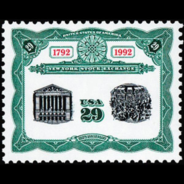 1992 29c NY Stock Exchange Mint Single