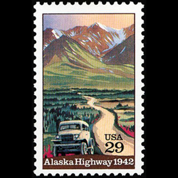 1992 29c Alaska Highway Mint Single