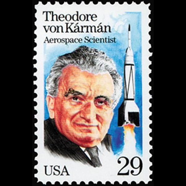 1992 29c Dr. T. Von Karman Mint Single