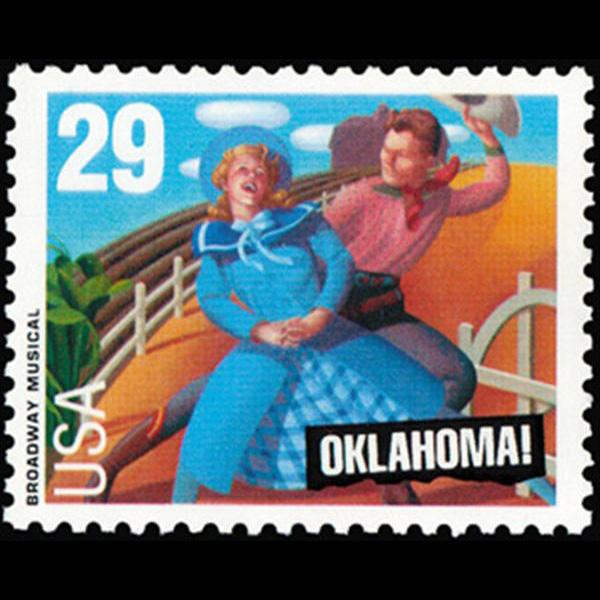 "1993 29c ""Oklahoma"" Mint Single"