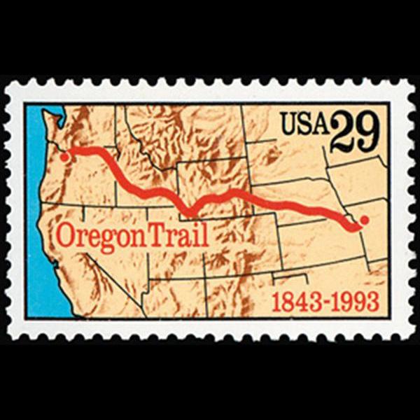 1993 29c Oregon Trail Mint Single