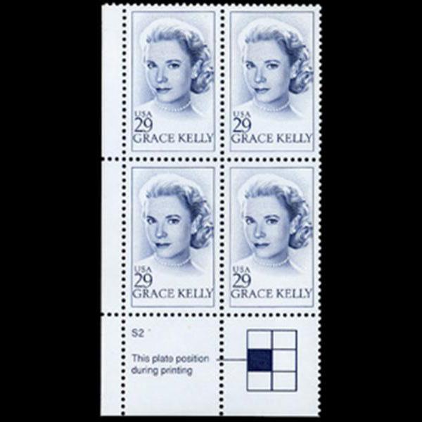 1993 29c Grace Kelly Plate Block