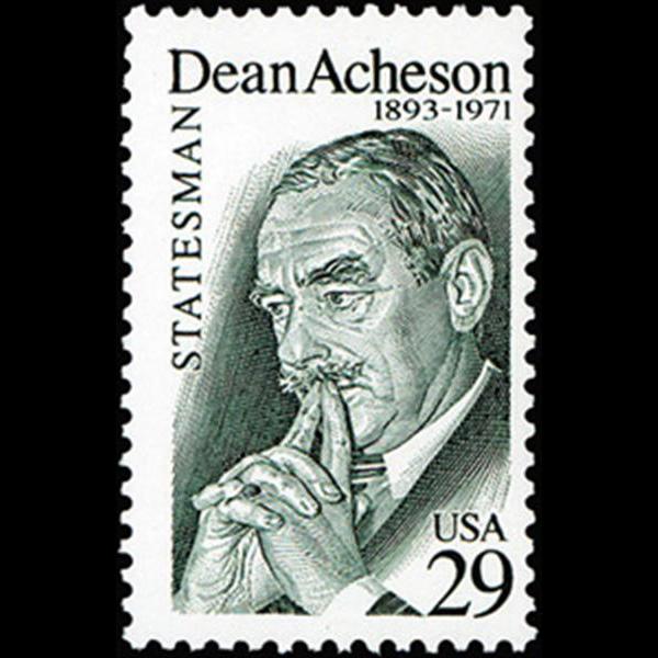 1993 29c Dean Acheson Mint Single