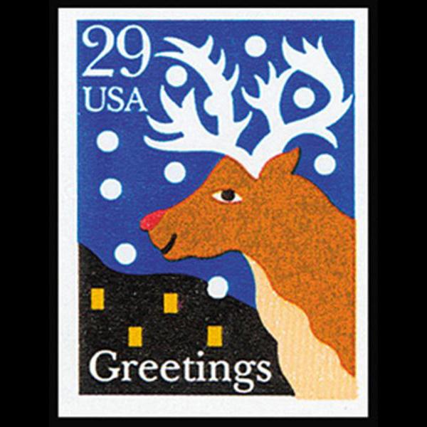 1993 29c Red Nosed Reindeer Self Adhesive Mint Single