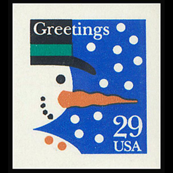 1993 29c Snowman Self Adhesive Mint Single