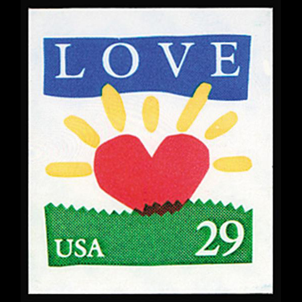 1994 29c Love Sunrise Bklt Single Mint