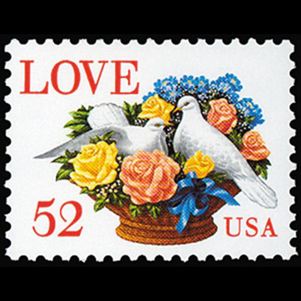 1994 52c Love Dove Mint Single