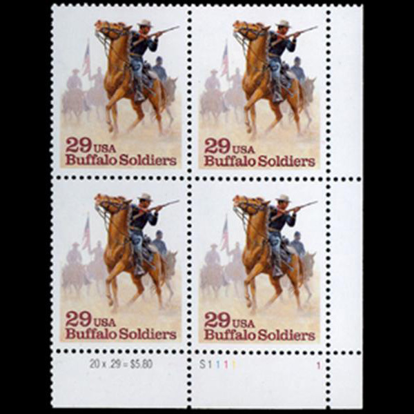 1994 29c Buffalo Soldiers Plate Block