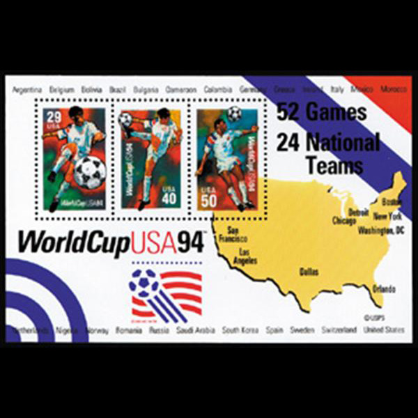 1994 $1.19 World Cup Soccer Souvenir Sheet