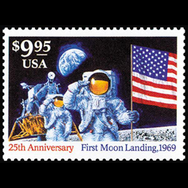 1994 $9.95 Moon Landing Express Mail Stamp Mint Single