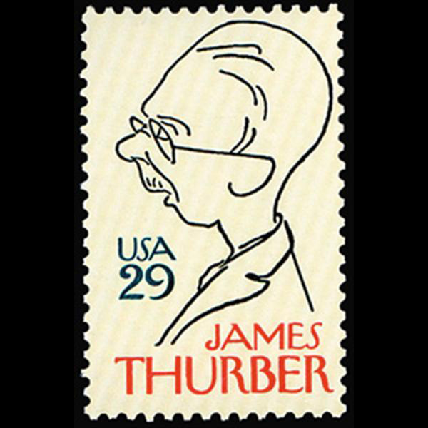 1994 29c James Thurber Mint Single