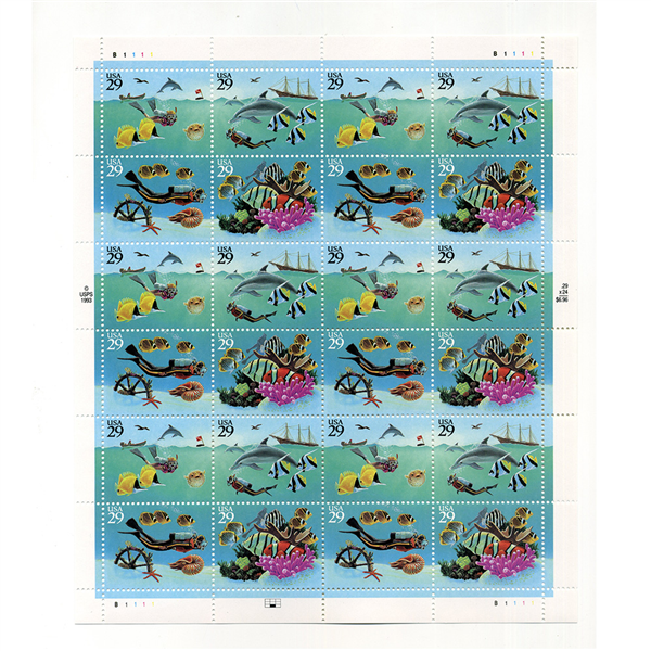 1994 Wonders of the Sea Mint Sheet