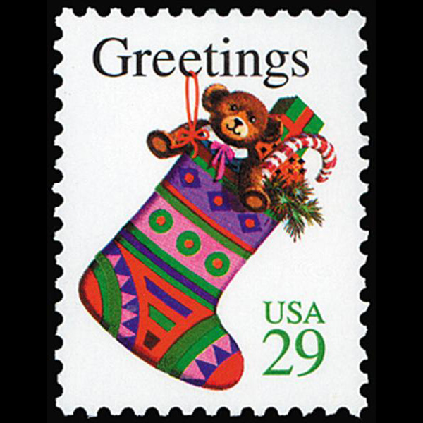 1994 29c Christmas Stocking Mint Single