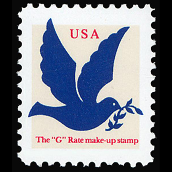 "1994 3c ""G"" Make-Up Rate Mint Single (ABN, Dark Blue)"