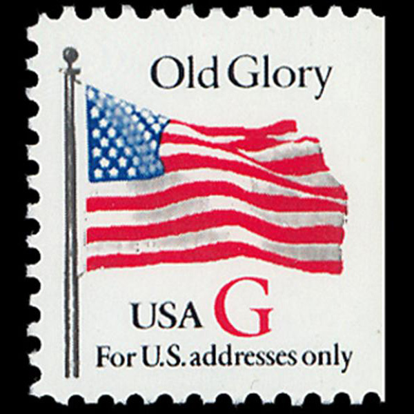 "1994 32c ""G"" Old Glory Bklt Mint Single (KCS, Red ""G"")"