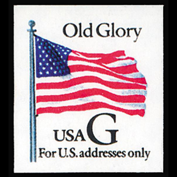 "1994 32c ""G"" Old Glory Bklt Mint Single"