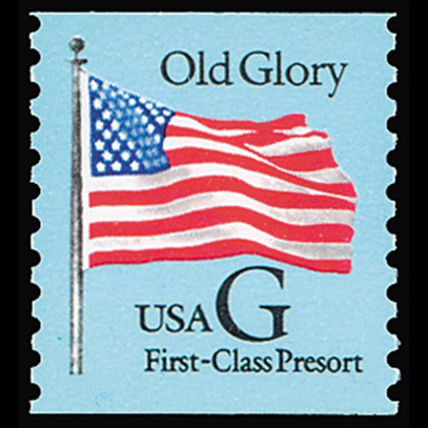 1994 25c Old Glory First-Class Presort Coil Mint Single