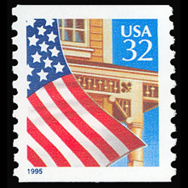 1995 32c Flag Over Porch (SVS) Mint Single