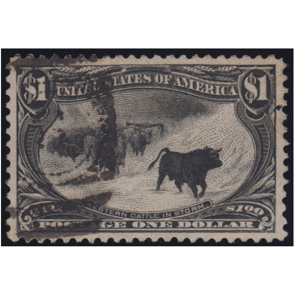 1898 $1 Cattle In Storm VF Used Large Margins
