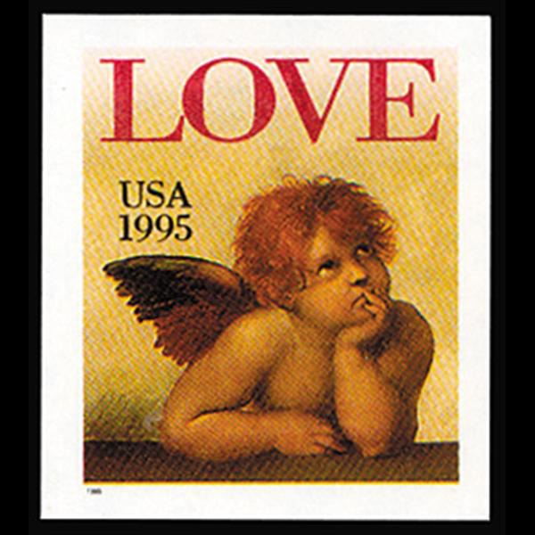 1995 32c Love Cherub Self-Adhesive Mint Single