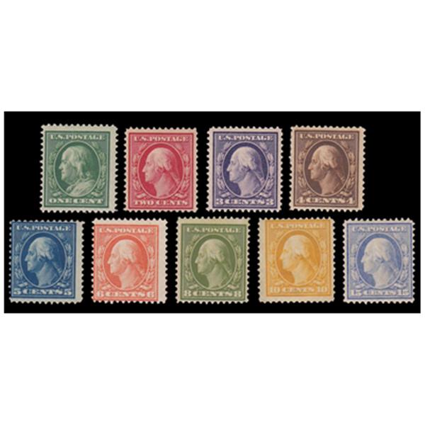 1910-11 Washington/Franklin Single Line Watermark, Perf. 12