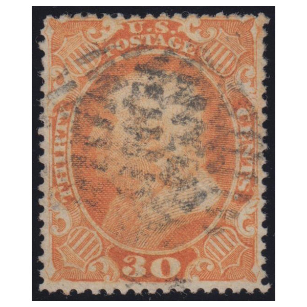 1860 Franklin 30c Orange Used
