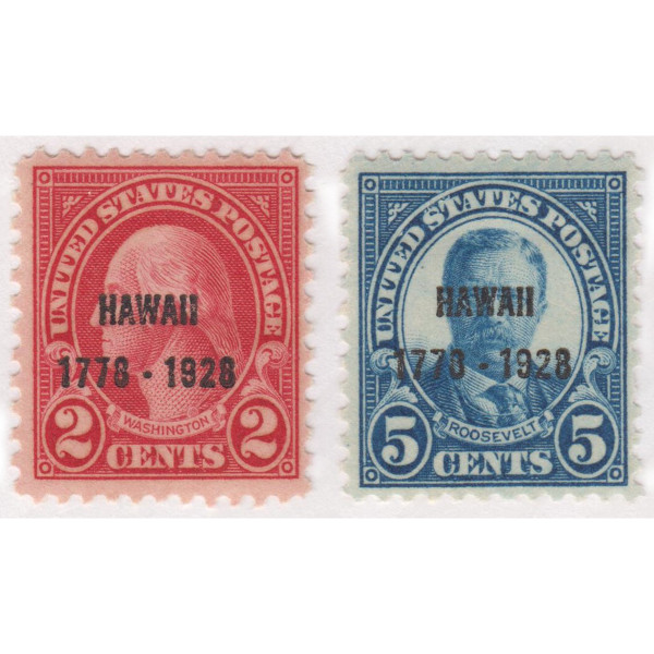 1928 Hawaii Sesquicentennial Issue, Mint