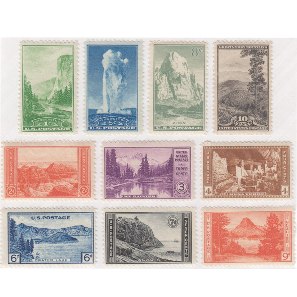 1934 National Parks Issue, Mint
