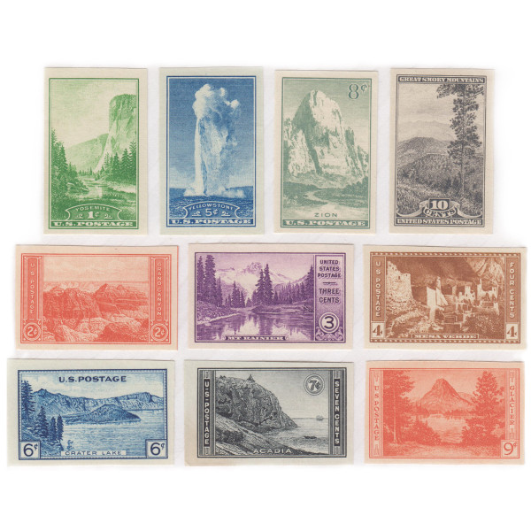 1935 National Parks Imperforate, Unused