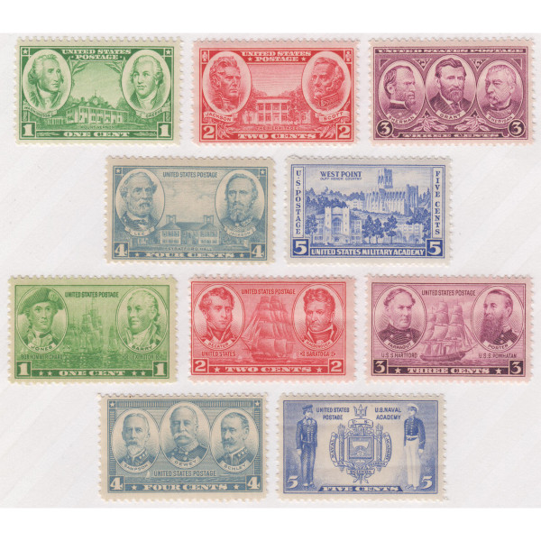 1936-37 Army and Navy Issue, Mint