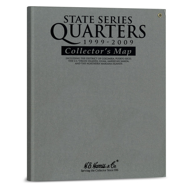 H.E. Harris State Series Quarters Gray Map