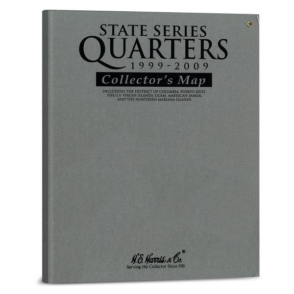 H.E. Harris State Series Quarters Gray Map