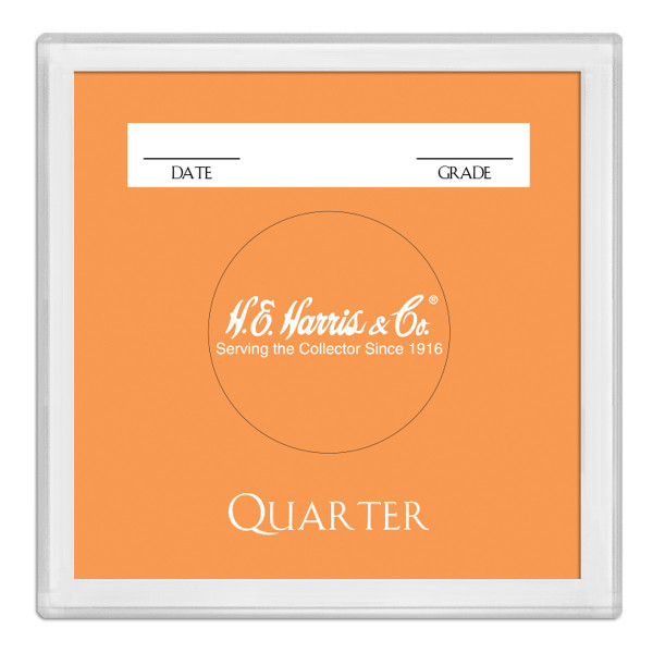 2X2 Color Coded Holder Qtr -25 Per Box