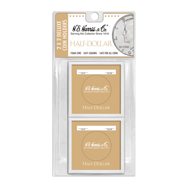 2X2 Color Coded Holder Half $-6 Per Blister Pack